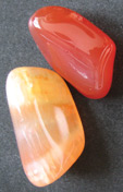 carnelian tumbled birthstones of Aries