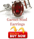 garnet-stud-earrings