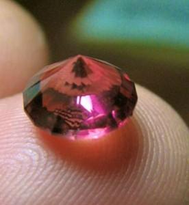Pink fireball tourmaline
