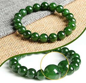Jadeite and nephrite two different types of jade birthstones your nephrite can also be beautiful below is a natural emerald green bracelet made of green nephrite aloadofball Image collections